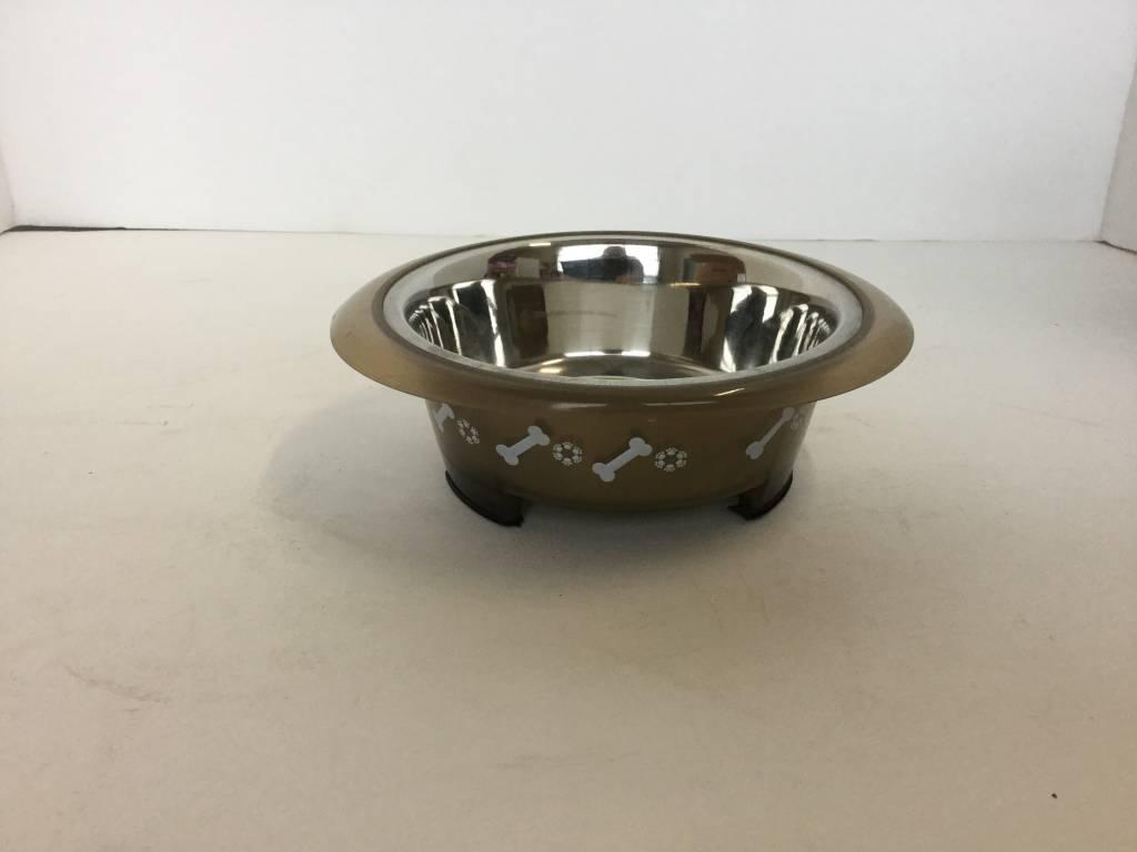 Buddy's Line Brown Small Dog Bowl 473mL-1