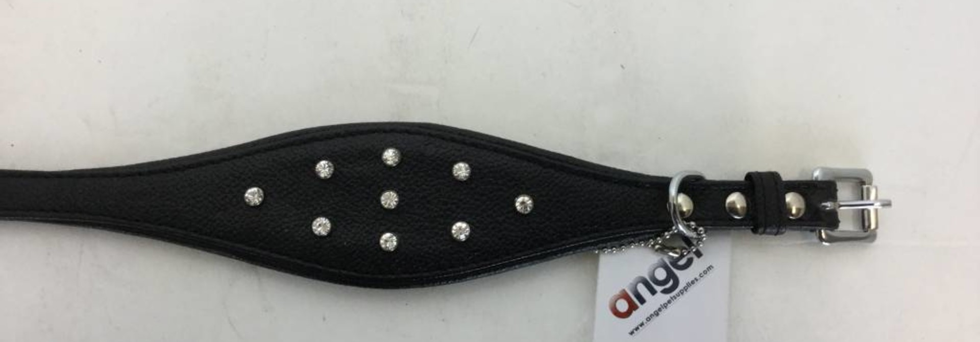 "Angel Collar HND RHN Black 16"" x 2.25"""