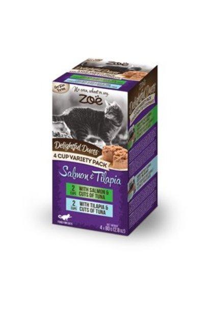 Zoe Delightful Duets Salmon & Tilapia 4cup Variety