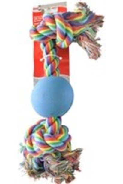 """Dogit 9"""" Rope Bone with Ball"""