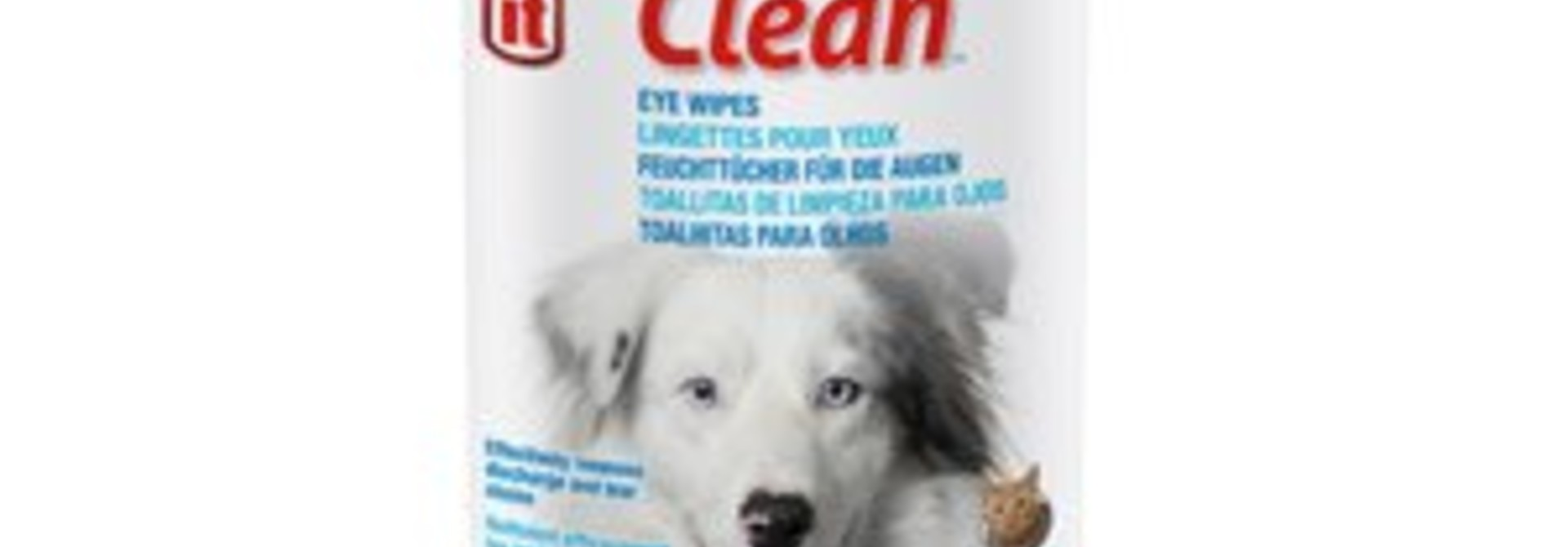Dogit Clean Eye Wipes, Unscented, 70pcs