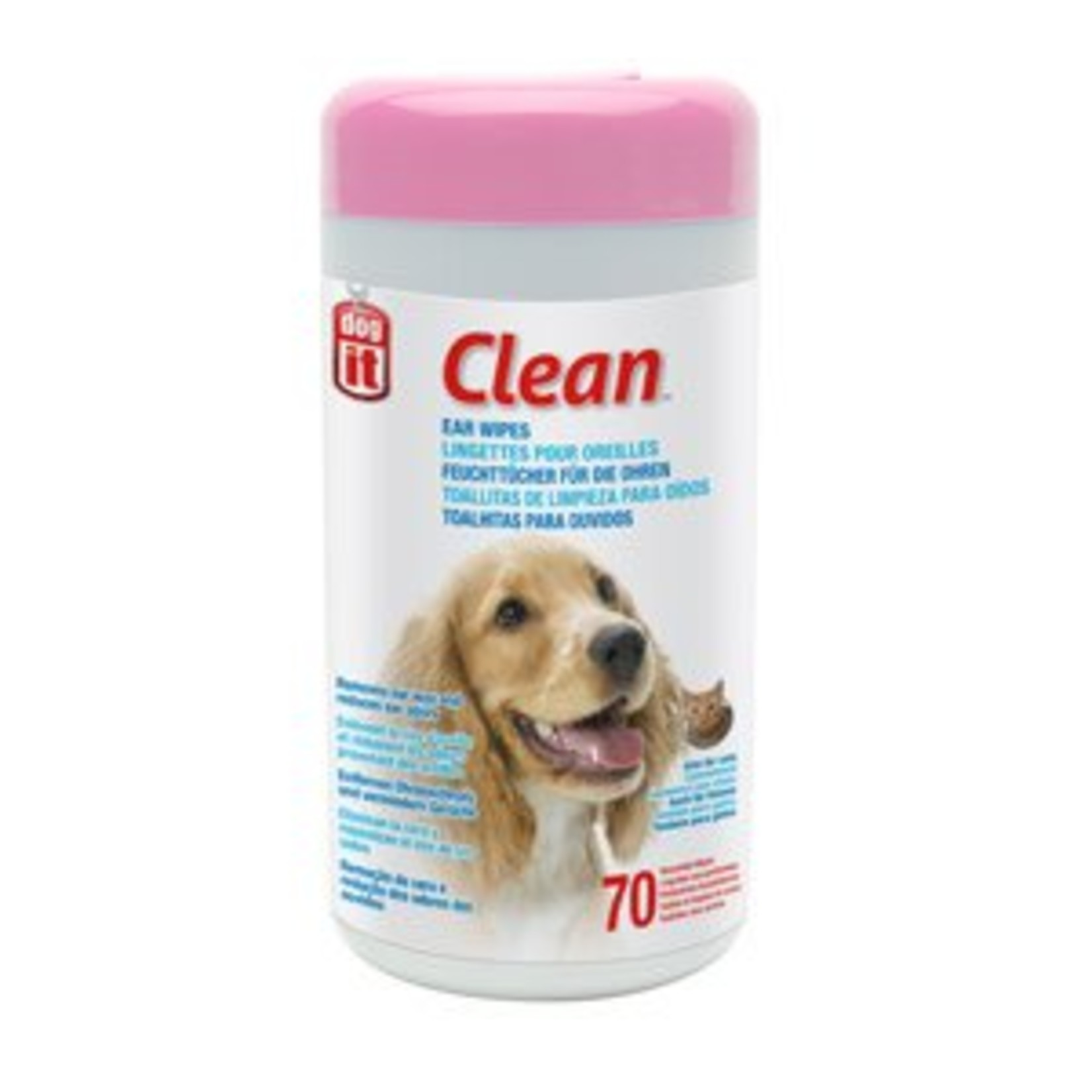 Dogit Clean Ear Wipes, Unscented, 70pcs