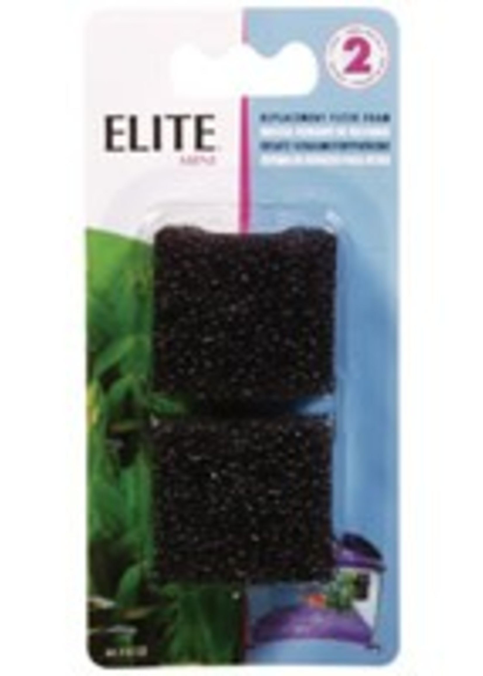 Elite Replacement Mini Foam Filter Inserts - 2 pack