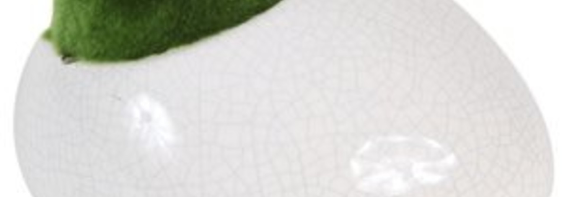 "Fluval Ceramic Ornament with Moss, White, Medium, 13 x 11 x 8.1 cm (5.1 x 4.3 x 3.2"")"