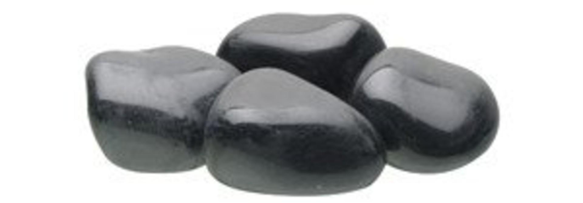 Fluval Polished Black Agate Stone 1.5 lb