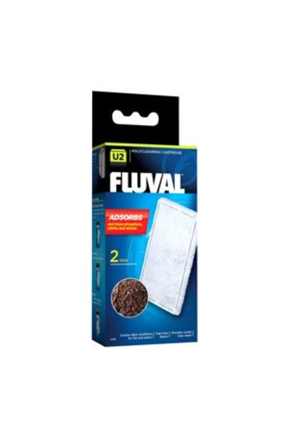 Fluval U2 Clearmax Cartridge, 2-pack