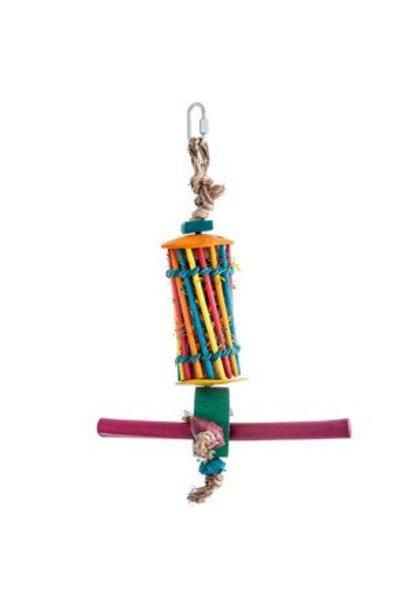 Hari Rustic Treasure Chopstick & Perch Foraging Tube for Medium Hookbills