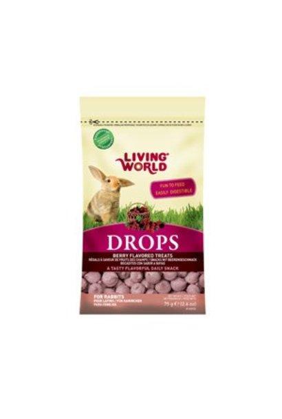 "Living World ""DROPS"" Rabbit Treat, 2.6 oz, Field Berry"