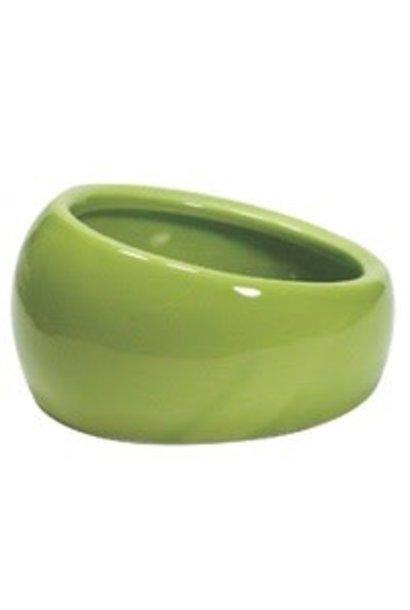 Living World Ergonomic Dish - Small - 120 mL (4.22 oz) - Green/Ceramic