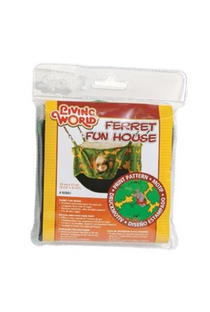 "Living World Ferret Fun House - Green - 25 cm (10"")"