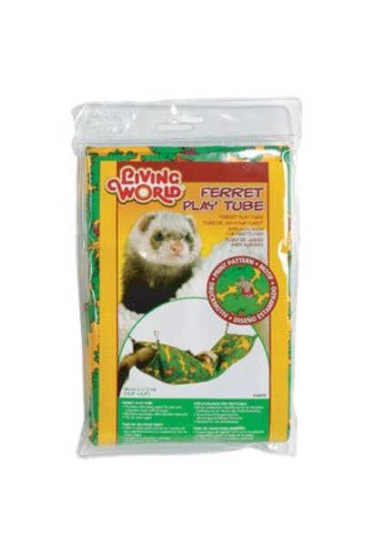 "Living World Ferret Play Tube - Green - 39 cm x 17.5 cm (15 x 7"")"