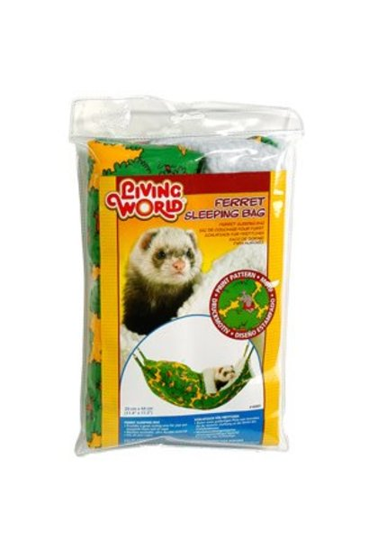 "Living World Ferret Sleeping Bag - Green - 29 x 44 cm (12 x 17.5"")"
