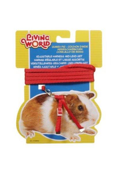 LW Guinea Pig Fg.8 Harness&LeadSet,Red-V