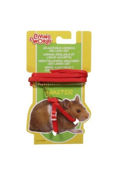 """Living World Figure 8 Harness and Lead Set For Hamsters - 75 cm (30"""") - Red"""