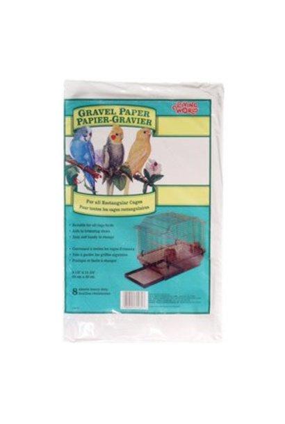"""Living World Gravel Paper, Medium, 8 pack, 35 cm x 40 cm (9.5 x 15.75"""")"""