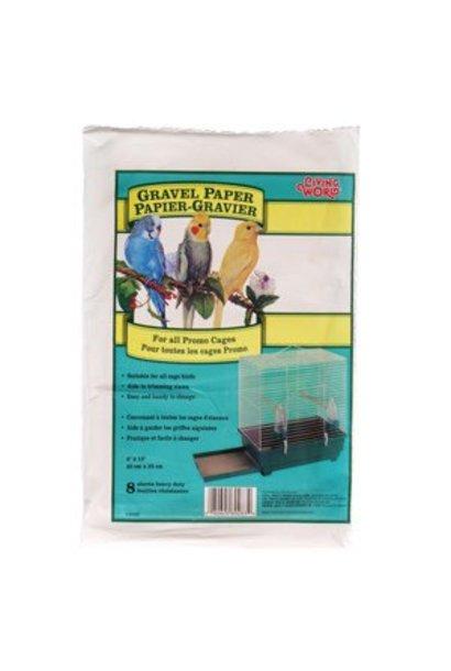 """Living World Gravel Paper, Small, 8 pack, 20 cm x 32.5 cm (8 x 13"""")"""
