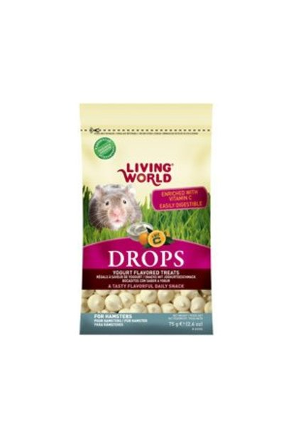 Living World Hamster Treat - Yogurt Flavour - 75 g (2.6 oz)