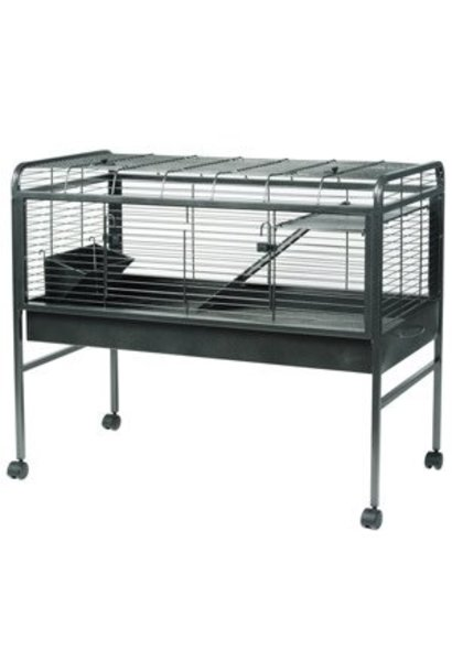 Living World Knock - Down Rabbit Cage - Large - Antique Silver