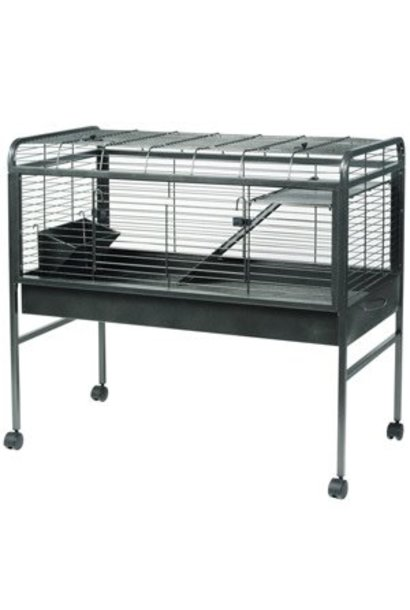 Living World Knock - Down Rabbit Cage - Medium - Antique Silver