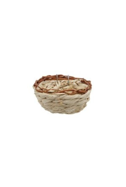 "Living World Maize Peel Bird Nest for Canaries, 11 x 6 cm (4.3 x 2.4"")"