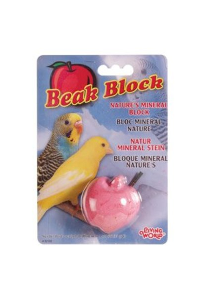 Living World Mineral Block for Parakeets, Red Apple