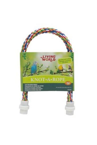 Living World Multi-Coloured Cotton Perch, 16 mm dia x 53 cm L