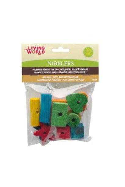 Living World Nibblers Wood Chews - Shapes Mix