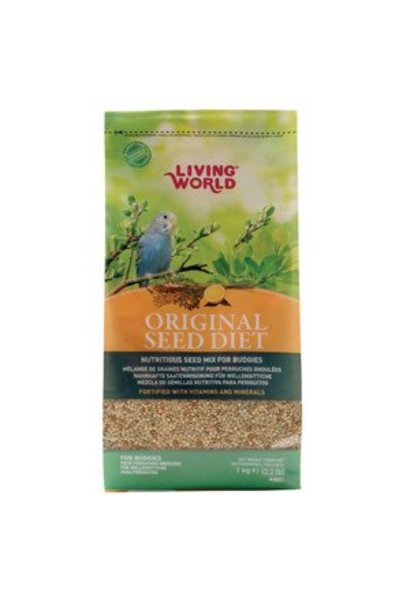 Living World Original Seed Diet For Budgies, 1 kg (2.2 lb)