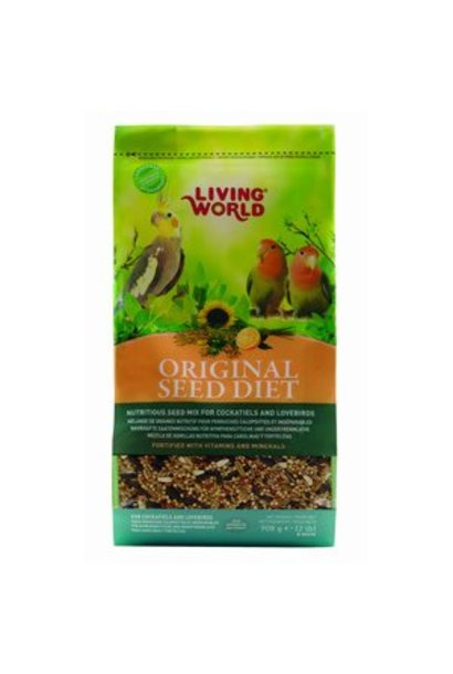 Living World Original Seed Diet for Cockatiels and Lovebirds, 908 g (2 lb)