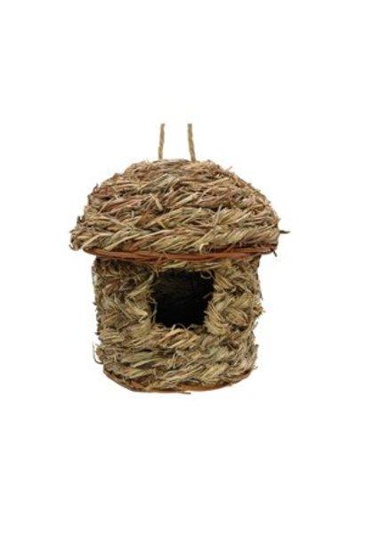 """Living World Outdoor Bird Nest, Orchard Grass, Hut, 14 x 14 x 18 cm (5.5 x 5.5 x 7"""")"""