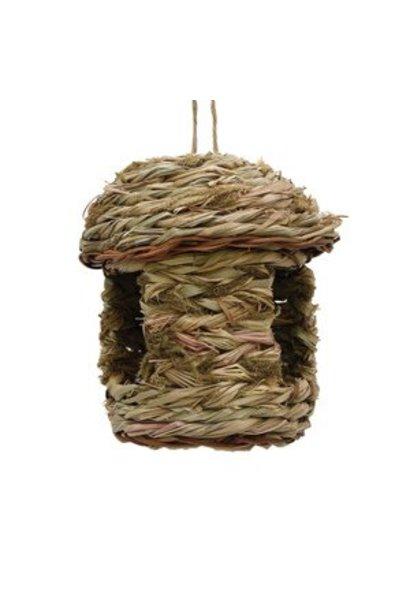 """Living World Outdoor Bird Nest, Reed with Grass (Catnip), Hut,  17 x 17 x 20 cm (6.7 x 6.7 x 7.87"""")"""