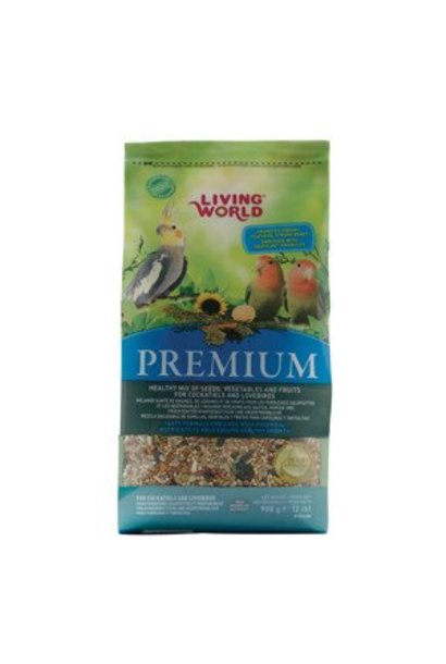 Living World Premium Mix for Cockatiels and Lovebirds, 908 g (2 lbs)