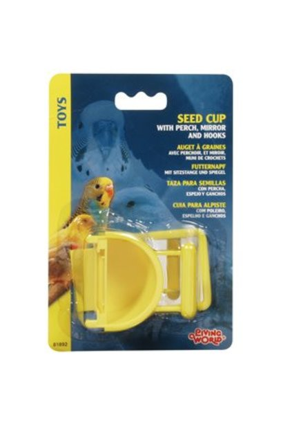 Living World Seed Cup with Perch, 30 g (1 oz)