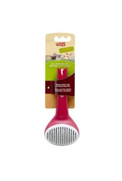 Living World Slicker Brush - Self-Cleaning