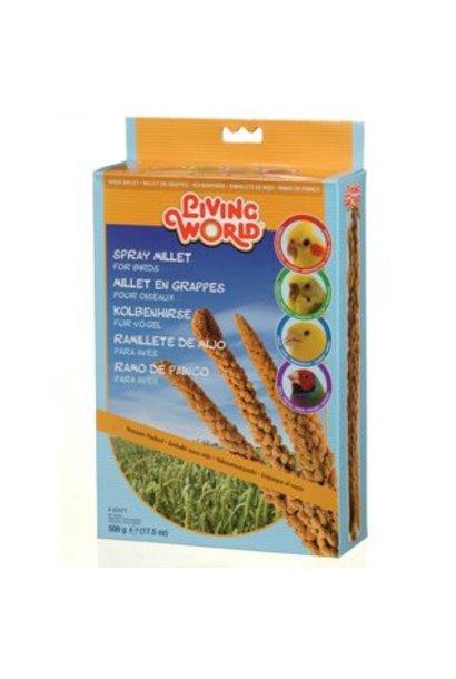 Living World Spray Millet for Birds, 500 g (17.5 oz)