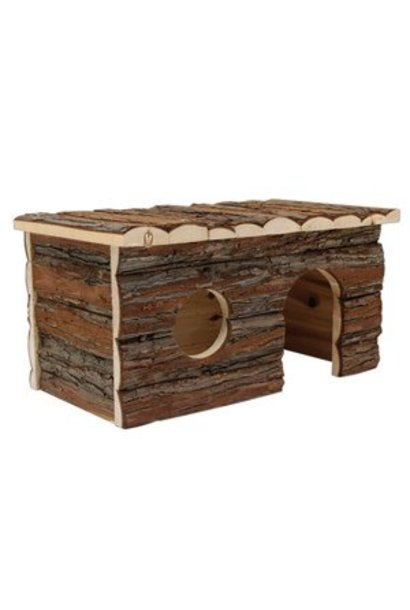 """Living World Tree House Real Wood Cabin - Large - 41 cm (16"""") L x 24 cm (9.5"""") W x 23 cm (9"""") H"""