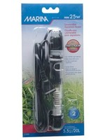 """Marina Submersible Pre-Set Aquarium Heater, Mini 25 W, 15 cm (6"""")"""