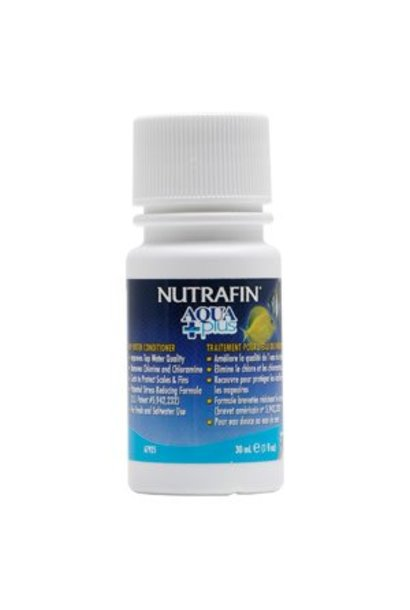 Nutrafin Aqua Plus, Tap Water Conditioner, 30 mL (1 fl oz)