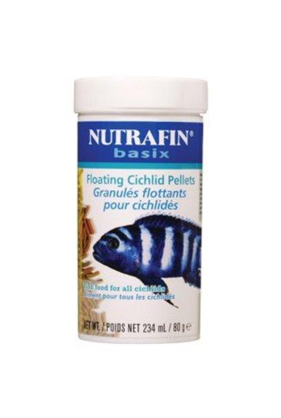 Nutrafin Basix Floating Cichlid Pellets, 80 g (2.8 oz)