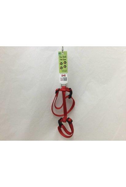 Medium Adjustable Cat Harness - Red