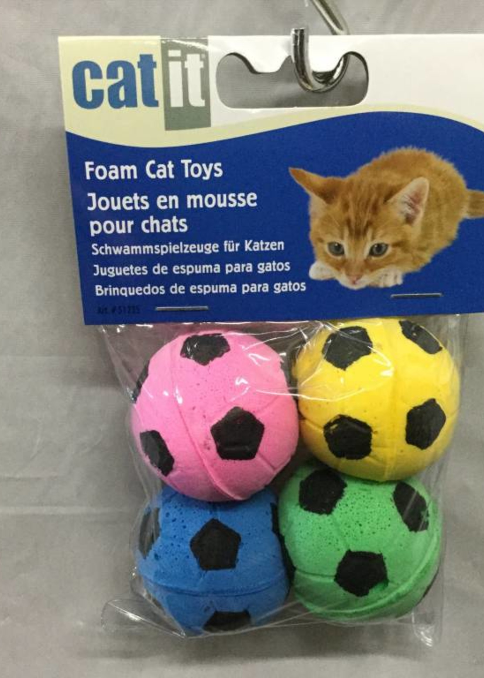 CatIt Catit Sponge Soccer Balls 4 pcs