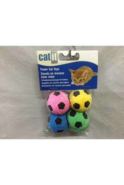 Catit Sponge Soccer Balls 4 pcs