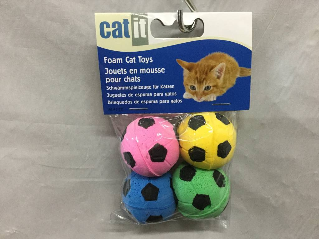 Catit Sponge Soccer Balls 4 pcs-1