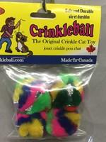 CANCOR Crinkle Cat Toys Mini Crinkleball 4pk
