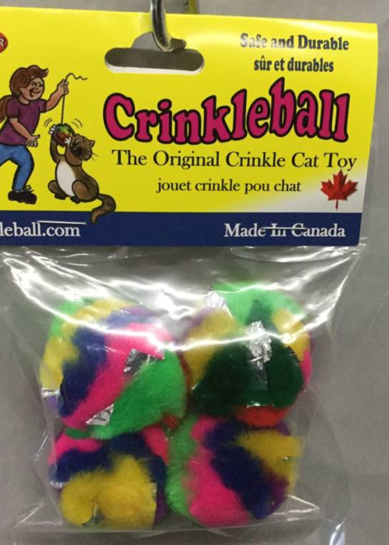 Crinkle Cat Toys Mini Crinkleball 4pk