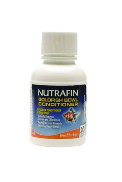 Nutrafin Goldfish Bowl Conditioner, Tap Water Conditioner for Goldfish 60 mL (2 fl oz)