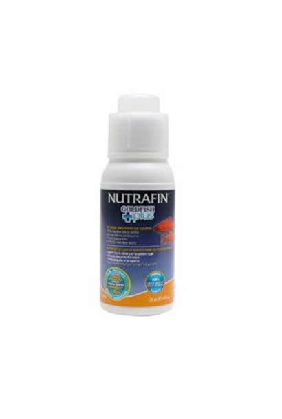 Nutrafin Goldfish Plus, Tap Water Conditioner for Goldfish, 120 mL (4 fl oz)