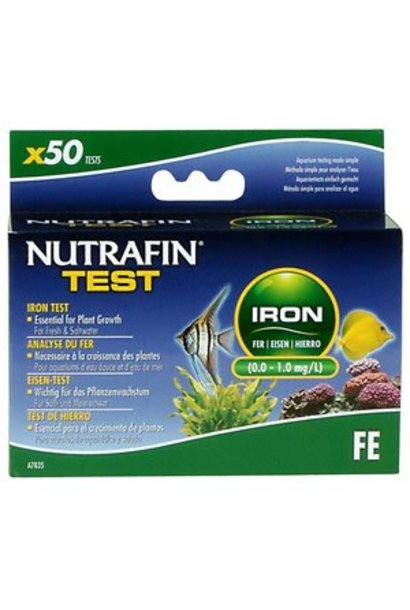 Nutrafin Iron Test (0.0 - 1.0 mg/L)