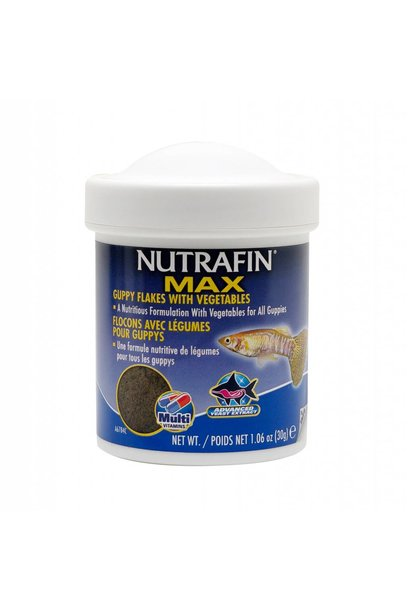 Nutrafin Max Guppy Vegetable Flakes 1.06 oz