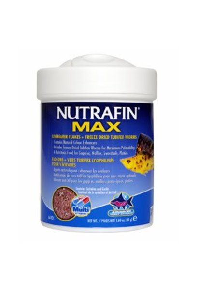 Nutrafin Max Livebearer+Tubifex 1.69 oz